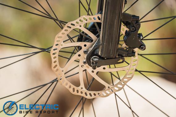 Rad Power Bikes Rad Rover 6 Plus Electric Bike Review 180 mm hydraulic brake rotor