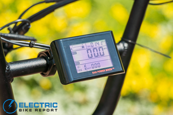 Rad Power Bikes RadRunner + Electric Bike Review LCD Display