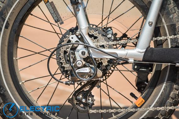 Rad Power Bikes RadRunner + Electric Bike Review Shimano Altus Drivetrain