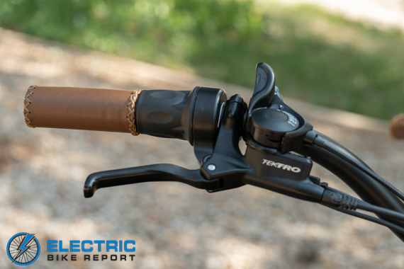 Tower Beach Babe Electric Bike Review Brake Lever
