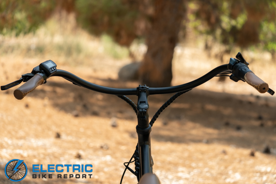 Tower Beach Babe Electric Bike Review Handle Bars