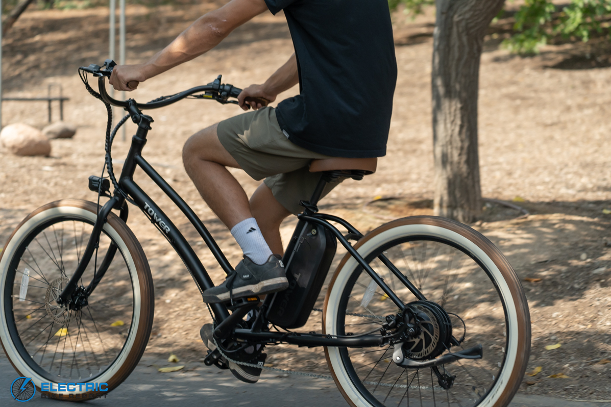 Tower Beach Babe Electric Bike Review Rider Side View