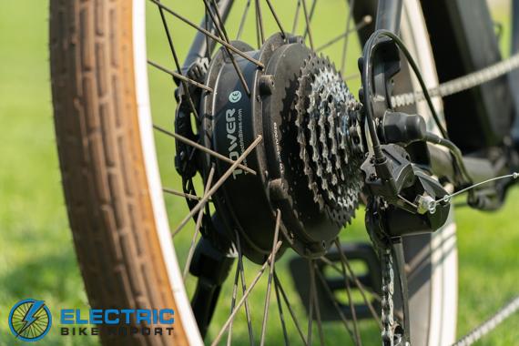 Tower Beach Bum Electric Bike Review 500W Brushless Geared Rear Hub Motor