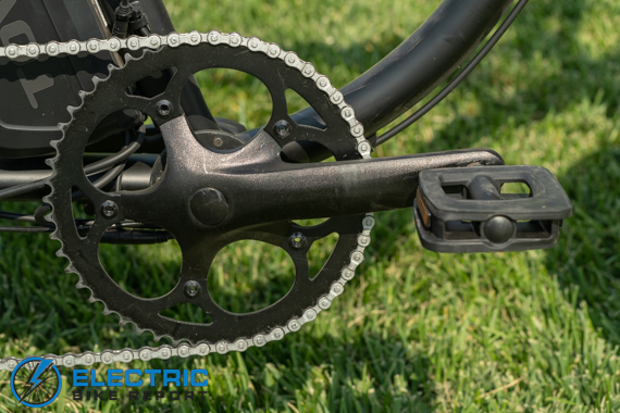 Tower Beach Bum Electric Bike Review Barefoot pedals