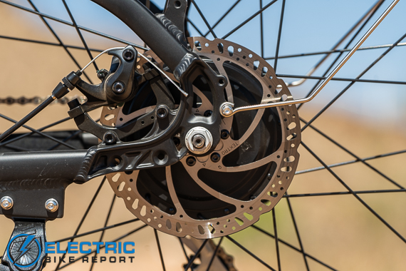 Turboant Thunder T1 Electric Bike Review 180mm Rotors