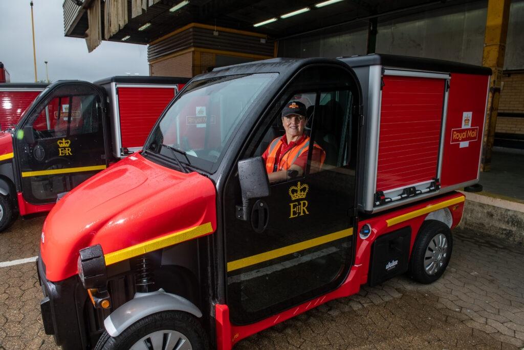 E-trikes unveiled  at Royal Mail Fleet Workshop, Gloucester, September 14 2021
